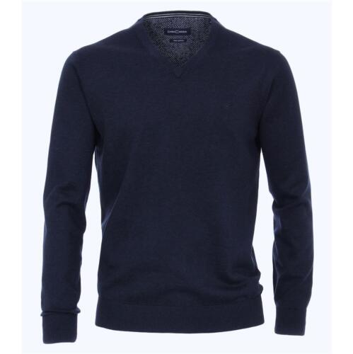 scollo a V Casa Moda Alla Moda Uomo Pullover in blu