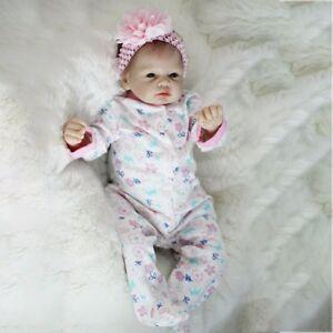 22 inch Reborn Baby Dolls Full Body Silicone Vinyl Handmade Realistic Girl Doll