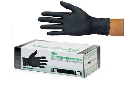 S//M//L 100 St/ück Einweghandschuhe Schwarz Einmalhandschuhe Gummi Komfortable Einweg Nitril Handschuhe Untersuchungshandschuhe