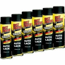 6x 500ml Fast Finish Lackspray, Schwarz Matt, Dose, Lack, Autolack 292828
