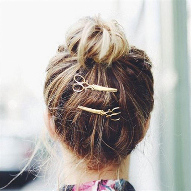 Scissors Shape Hairpin Women Lady Girls Hair Accessories Jewelry Decoration New