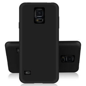 SDTEK-Matte-Case-for-Samsung-Galaxy-S5-Soft-Cover-Black