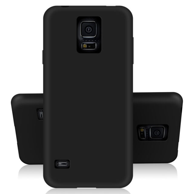 SDTEK Matte Case for Samsung Galaxy S5 Soft Cover (Black)