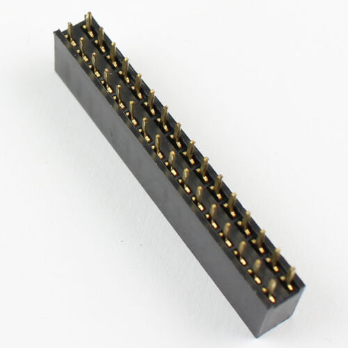 10Pcs Pitch 2.54mm 2x16 Pin 32 Pin Female Double Row Straight Pin Header Strip