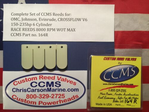 CCMS OMC Johnson Evinrude Racing Outboard Reed Valves  150-235 hp V6 C//F PN164R