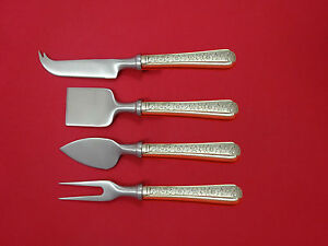 Spanish Lace by Wallace Sterling Silver Cheese Cleaver HHWS  Custom Made 6 12