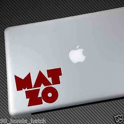 MAT ZO VINYL STICKER CAR DECAL laptop shirt cd mixtape flume diplo 3lau alesso