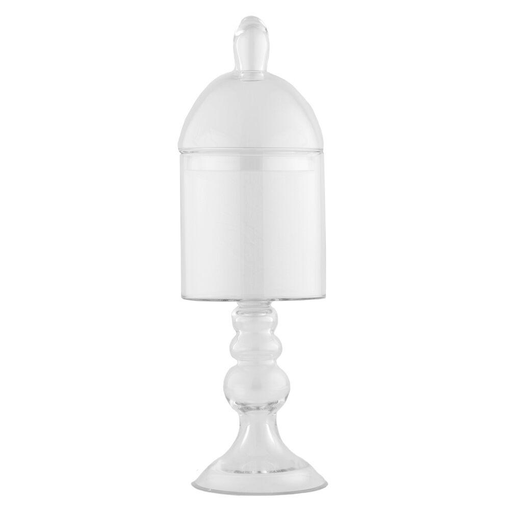 BOMBONIERA vetro LIGHT 50 cm-Caramella vetro Candy Bar VASO CONTENITORE IN VETRO MATRIMONIO