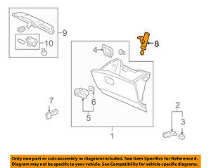 Honda Genuine 77530-SHJ-A02 Glove Box Damper Assembly