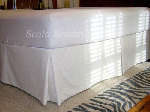 "15/"" Drop Pleated Bed Skirt 800 TC Egyptian Cotton Solid Twin//Full//Queen//King"