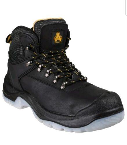 Amblers FS199 Noir S1P SRC Antidérapant Bump-Bouchon de sécurité Boot /& Semelle UK 8