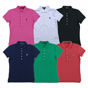 Ralph-Lauren-Womens-Polo-Shirt-Classic-Fit-Interlock-Pony-Logo-New-Nwt-S-M-L