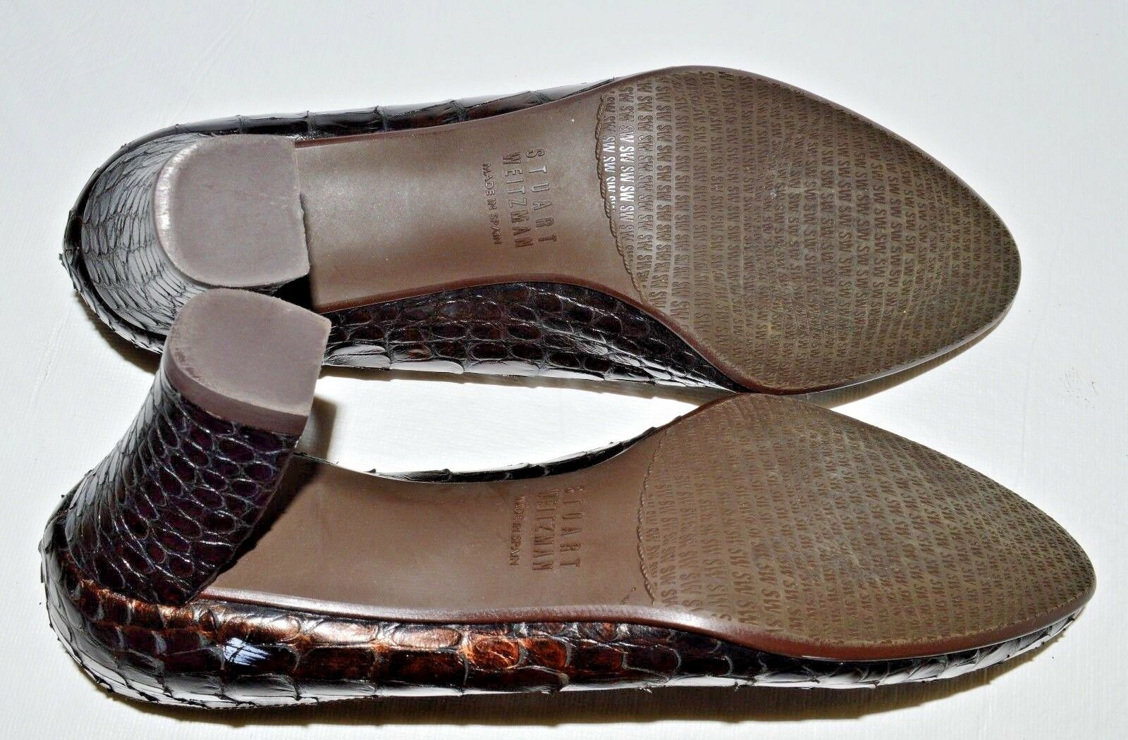 STUART WEITZMAN SZ 6 M BROWN METALLIC COPPER LEATHER LEATHER LEATHER PUMPS HEELS DRESS SHOES 9ae9bd