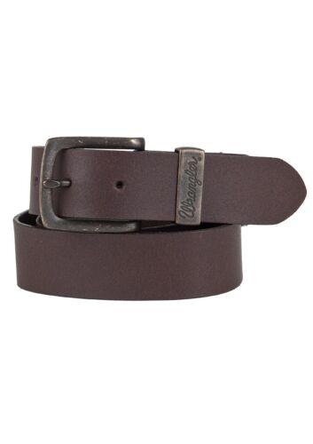Wrangler calcetines para vaqueros cinturón de cuero Double stitched Belt w0080us81 Brown