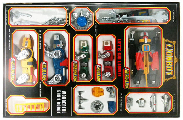 DHL Brand New Voltron Lionbot Combiner 1980 1980 1980 Die Cast Taiwan Version & Mini Figur 0458fc