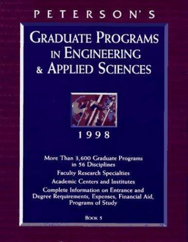 Peterson's Graduate Programs in Engineering and Applied Sciences, 1998
