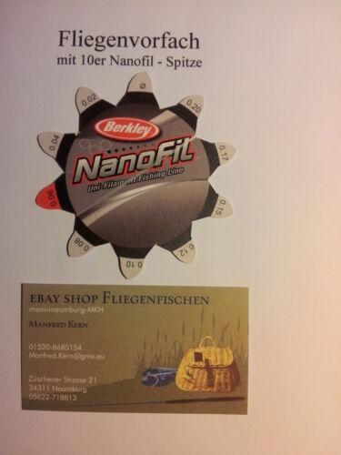 Weltneuheit 10 Stück Fliegenvorfach mit 10er Nanofil Spitze