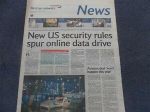 British Airways News March 11th 2004 Concorde Articles