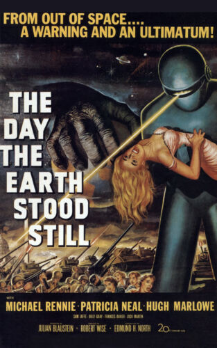 "24/""x36/"" Giclee on Canvas The Day The Earth Stood Still"