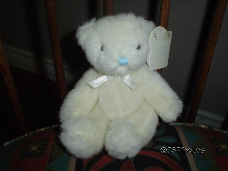 Russ Berrie Baby Blessings Bear It's a Boy Retirojo