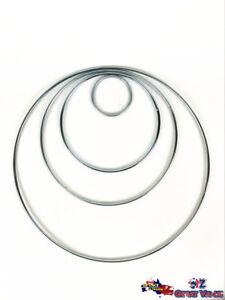 Craft-Ring-Metal-Dream-Catcher-DIY-Macrame-Hoops-Feather-Pentacle-50-125mm