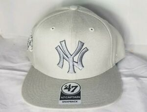 NEW YORK YANKEES - 47 Brand MLB Triple Rush Sure Shot Snapback GREY ... e8dcfeeb31f