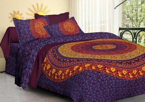 Multicolor Duvet Cover Super King Cotton Quilt Cover Set Hippie Duvet Cover Set