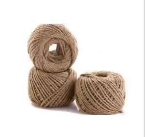 30 M Mtrs 2 Ply Natural Brown Jute Hessian Burlap Twine Rustic Gift Cord