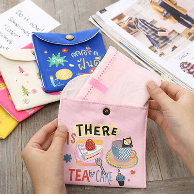 NEW Women Girl Cute Sanitary Napkin Towel Pads Small Bag Purse Holder Organizer