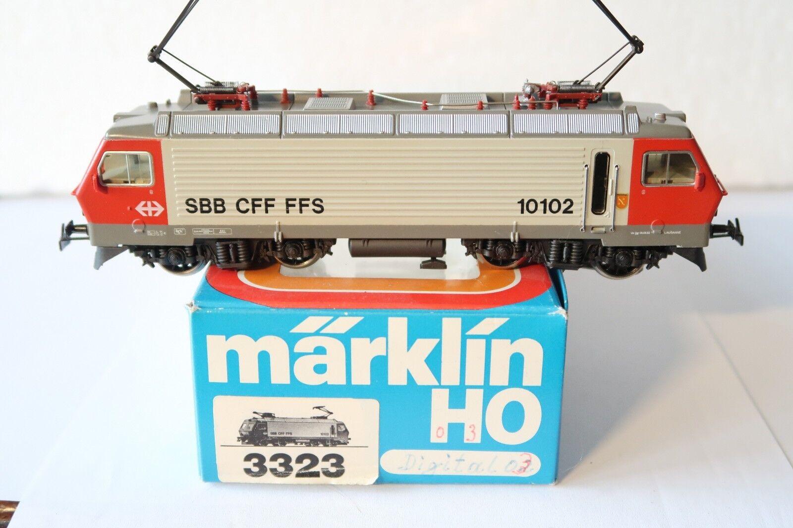 Digital Märklin HO AC 3323 E - Lok BR 10102 SBB  (DE 495-64R7 10)