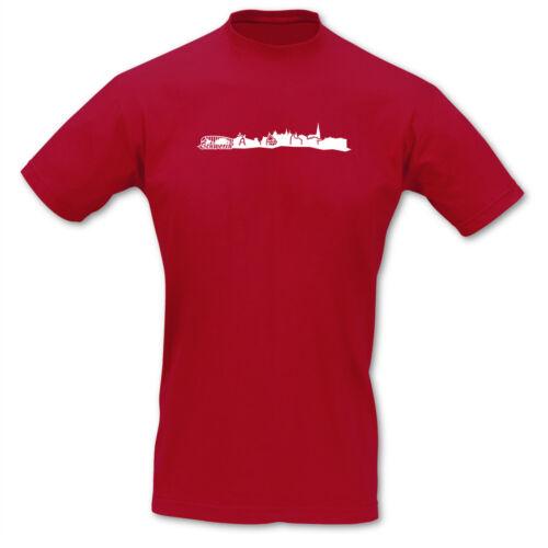 Samunshi Schwerin Skyline T-Shirt City  8 Farben  S 5XL