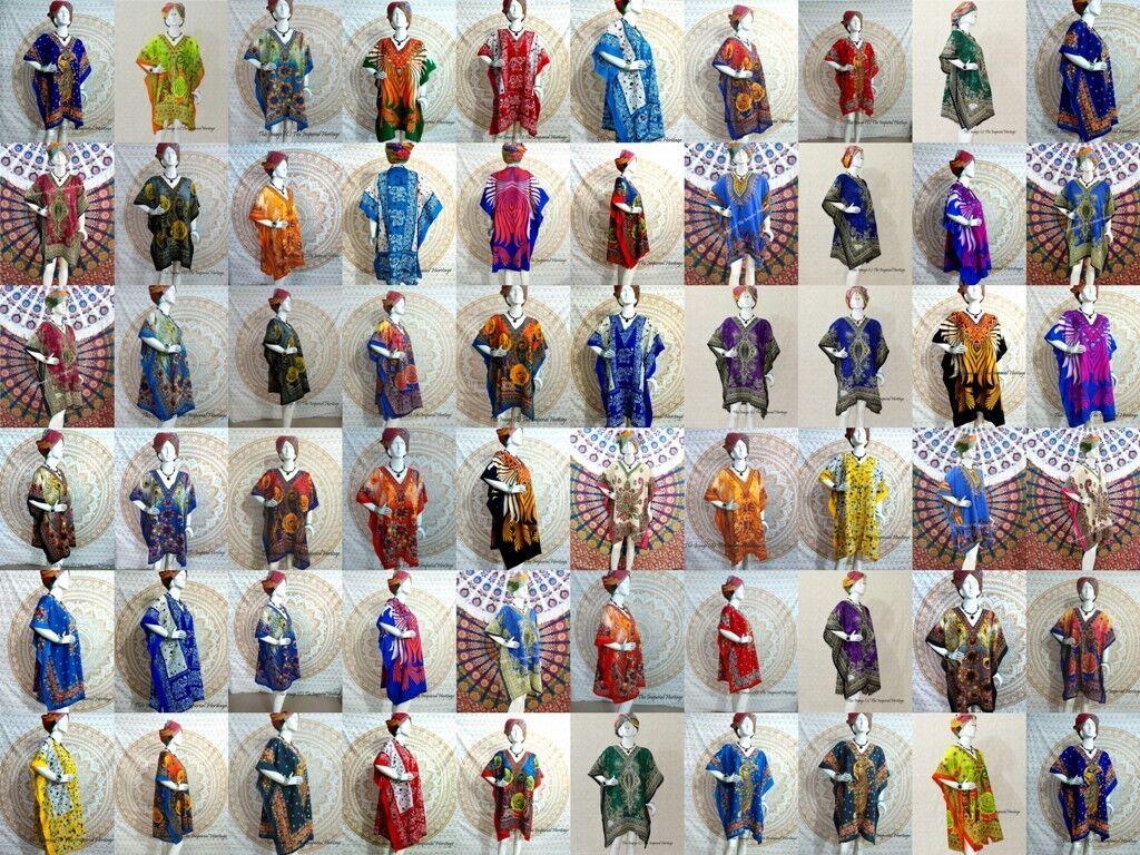 50 Wholesale Lot Assorted Women Kaftan Short Nightwear Beach Beach Beach Tunic Evening Dress 65a5e0