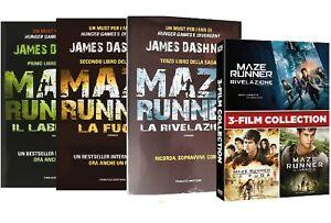 MAZE-RUNNER-COLLEZIONE-3-FILM-LIBRI-3-DVD-3-LIBRI-COFANETTO-3-DVD-SAGA