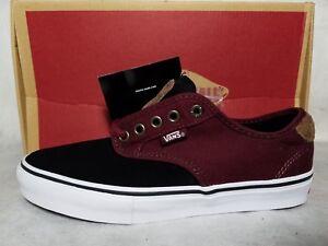 8f4cdb69e8 New Vans Chima Ferguson Suede Pro Two Tone Black Red Port Skate Shoe ...