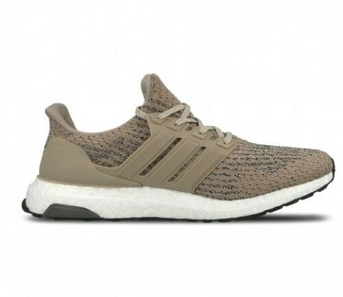 Hommes Adidas Ultra Boost CG3039 Tan/White/ Noir Size:7.5 Gym/Running