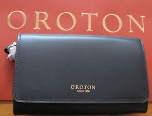 BRAND-NEW-OROTON-FEDERATION-FOLD-CLUTCH-WRISTLET-BLACK