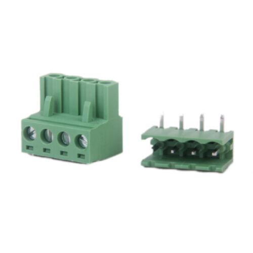 10X 4 Pin 5,08 mm Terminal Block Steckverbinder Klemme Anschlussklemme 300V 15A