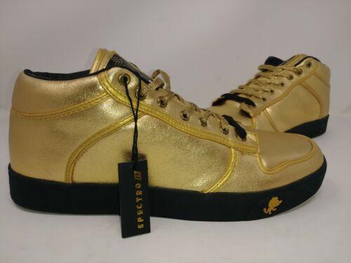 Vlado Men/'s Spectro-1NJALE Sneakers Leather Gold//Black #IG-1060-NJA W131 pp NEW