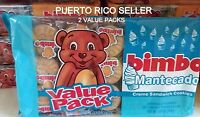 Puerto Rico Bimbo Mantecado Cream Sandwich Cookies Galletas Candy Sweets Snacka2