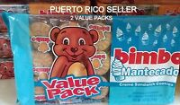 Puerto Rico Bimbo Mantecado Cream Sandwich Cookies Galletas Candy Sweets Snacka2