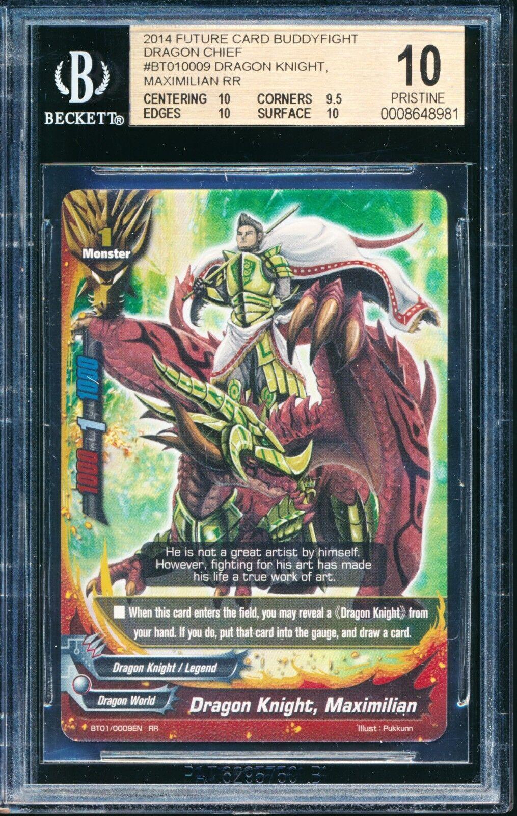 Framtida kort BuddyFight BGS 10 PRICINE kvalitetd drake Knight Maximilian BT01 RR