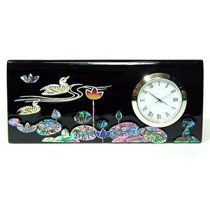 Horloge De Bureau Porte Cartes Visite Bois