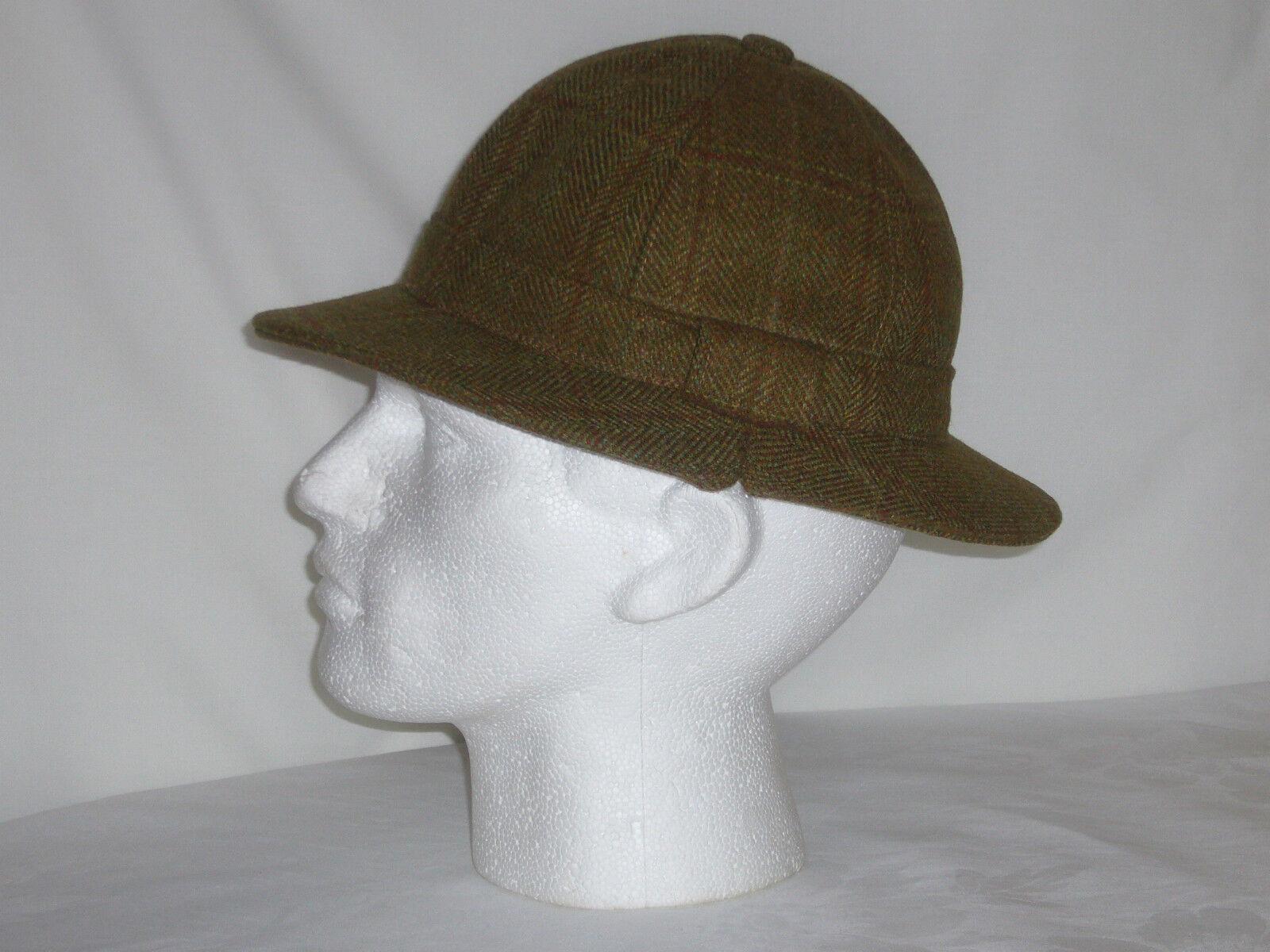 Ghillie Sombrero marrón Lana Tweed para la caza de disparo de pesca Nuevo