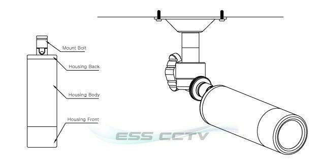 KT/&C EJ230NUWX Bullet SECURITY CAMERA 700 TVL 2D-DNR 960H ATR 2.97mm WIDE lens