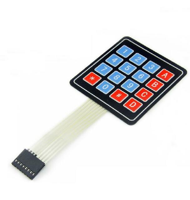 2pcs 4x4 Matrix 16 Key Membrane Switch Keypad Keyboard for Arduino/AVR/PIC/ARM
