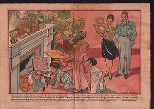 Sapin-Noel-Cheminee-Creche-Jesus-Salon-Jouets-Enfants-France-1946-ILLUSTRATION