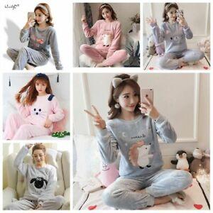 Women/'s cute soft rabbit fur hooded pajamas pajamas jumpsuit pajamas winter warm