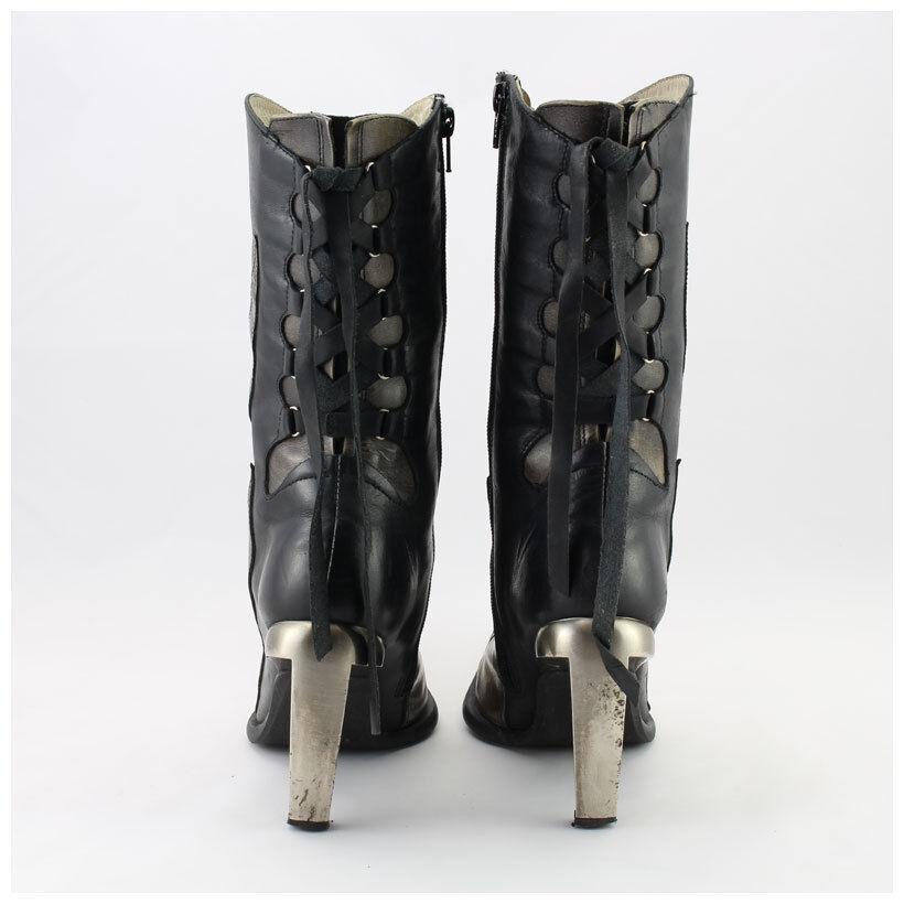 New New New Rock Stiefel Gr. 37 Malicia Stiefeletten schwarz/braun  (#2647) 26225c