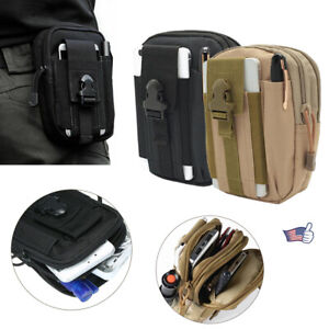 Tactical Molle Bag Belt Waist Pack Military Pouch Waist Fanny Pack Phone Pocket