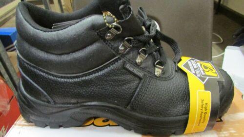 uk size 9 bartium work safety boots steel toe oil acid resistant black eu 43